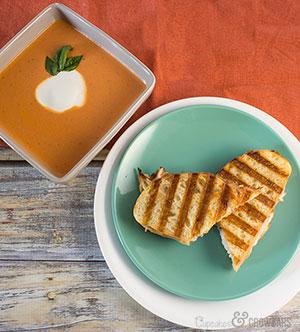 Smoky Gouda Turkey Panini with Tomato Soup | Cupcakes&Crowbars