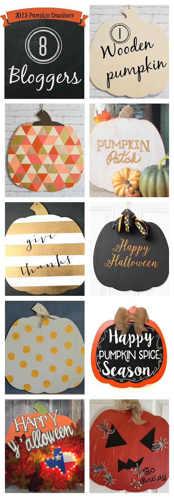 Pumpkin Smashers 2015 - 8 Awesome Pumpkin Decorations