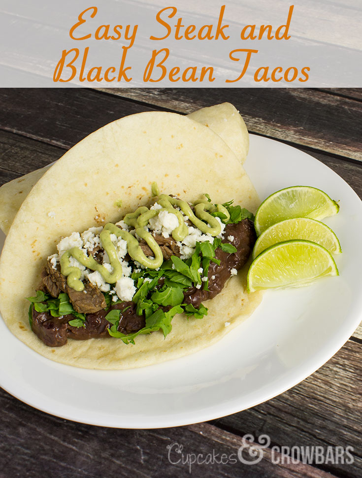Steak and Black Bean Tacos
