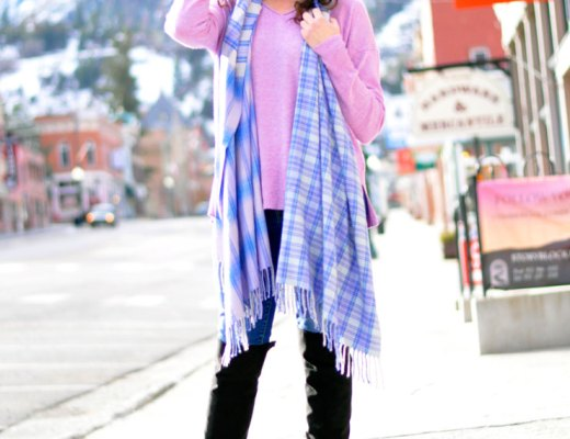 Gilmore Girls Style in a Lavender Sweater | www.cupcakesandthecosmos.com