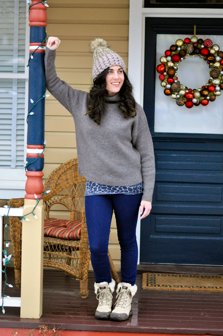 Taupe Sweater in Telluride