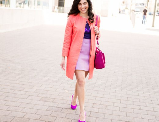 Bright Colorful Pink and Purple Look | www.cupcakesandthecosmos.com