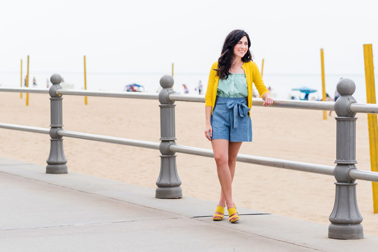 JCrew Stripes and Colors on Virginia Beach Boardwalk | www.cupcakesandthecosmos.com