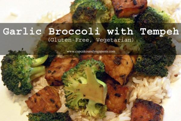 Garlic Broccoli with Tempeh (Gluten-Free, Vegetarian)