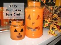Easy Pumpkin Jars Craft