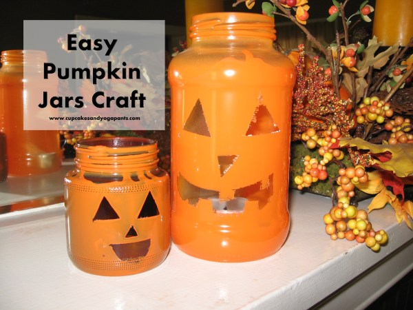 Easy Pumpkin Jars Craft