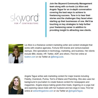Free Freelance Writing Tips Webinar (I'm Co-Hosting!) With Skyword