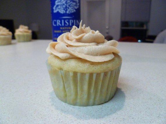Hard Apple Cider Cupcakes