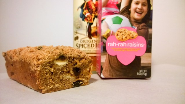 Rah-Rah Rum Raisin Bread with Cookie Streusel