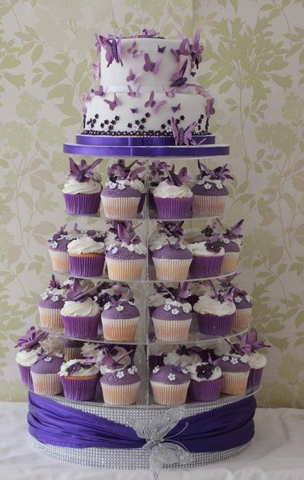 Purple Butterfly Wedding Cupcakes Cupcakes Gallery