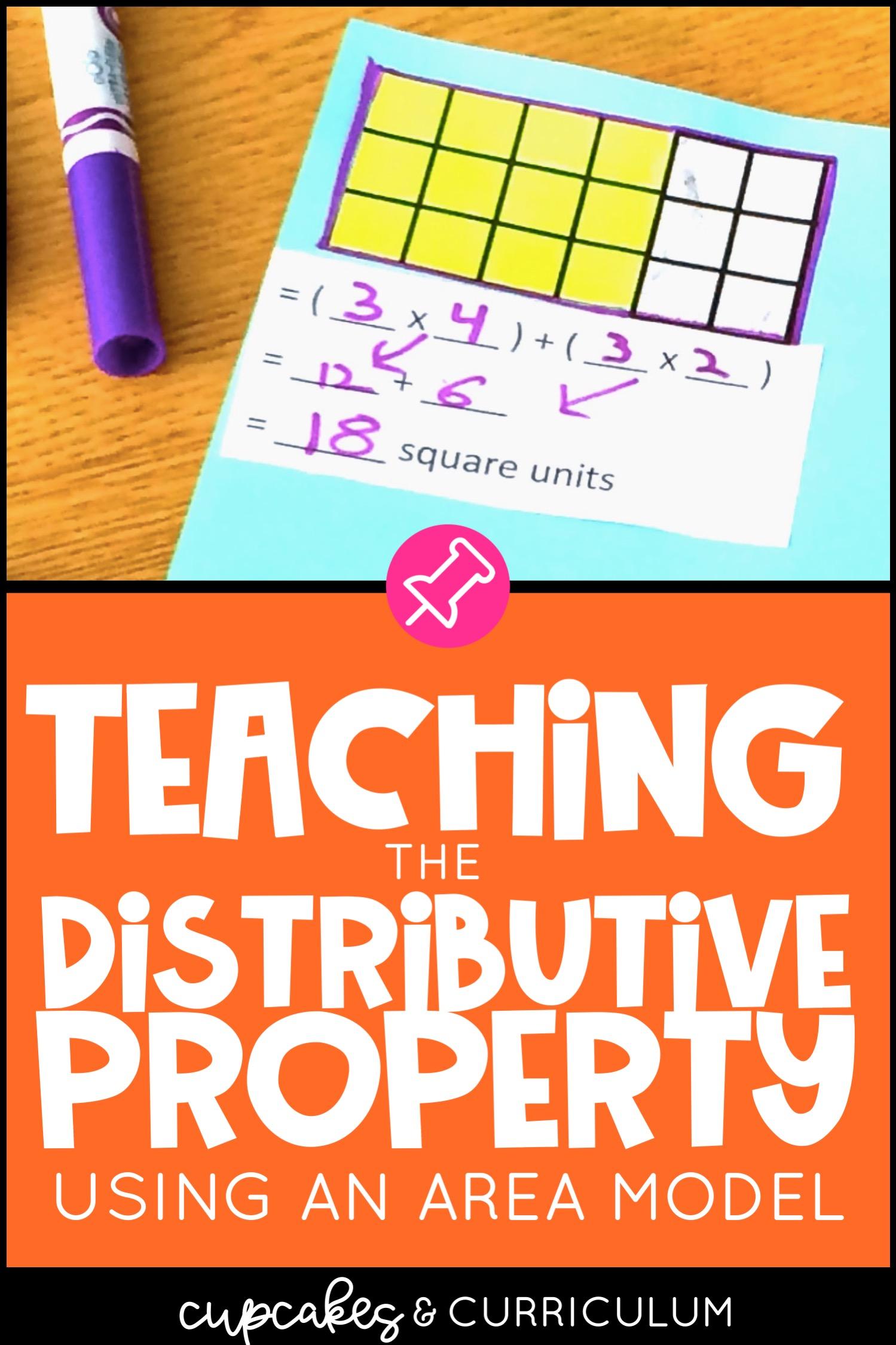Teaching The Distributive Property Cupcakes Amp Curriculum