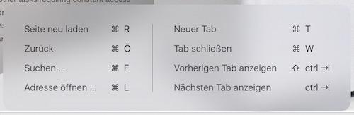 Tastaturkürzel Safari iOS 9
