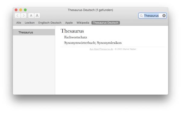 Lexikon OS X - OpenThesaurus