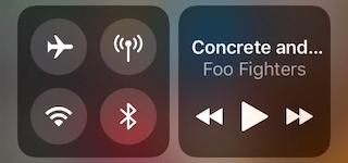 WLAN und Bluetooth, Kontrollzentrum iOS 11 deaktiviert