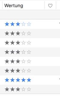 Bewertungssterne in iTunes