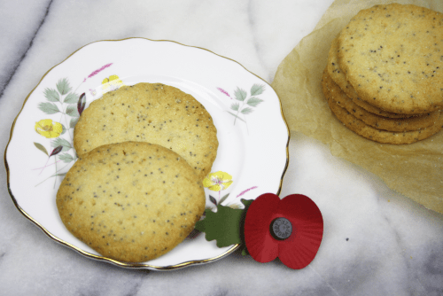 Lemon Poppy Seed Shortbread