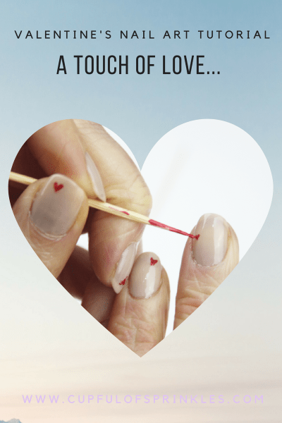 A Touch of Love Heart Nail Art Tutorial