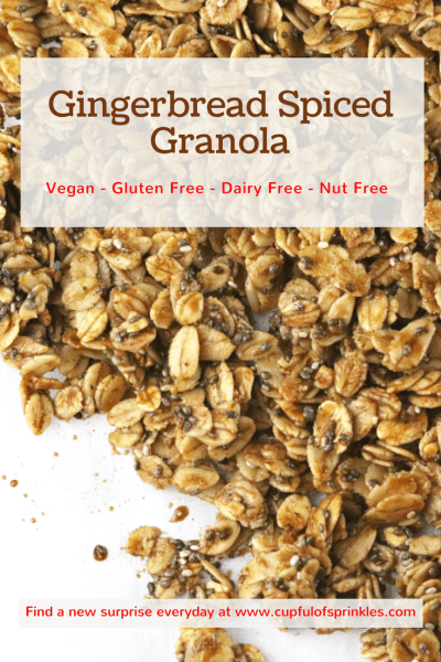 Gingerbread Spiced Granola