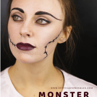 Monster Bride Halloween Makeup Tutorial