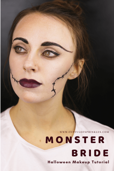 Monster Bride Halloween Makeup Tutorial - Cupful of Sprinkles