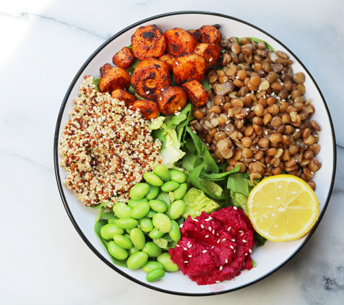 Lentil Salad Bowl - Cupful of Sprinkles