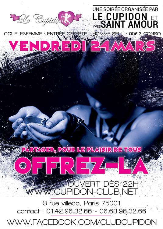 Vendredi offres la , Rencontre couple , trio et gang bang le cupidon club libertin paris