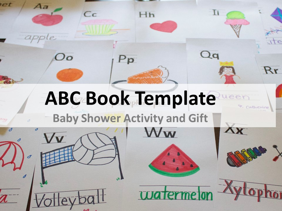 ABC Book Template for Baby Shower