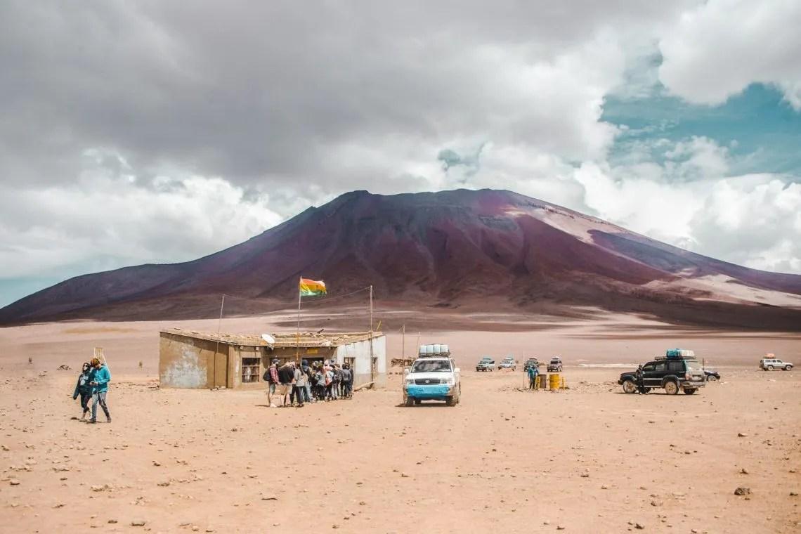 bolivia chile border uyuni salt flats tour passport control travel south america