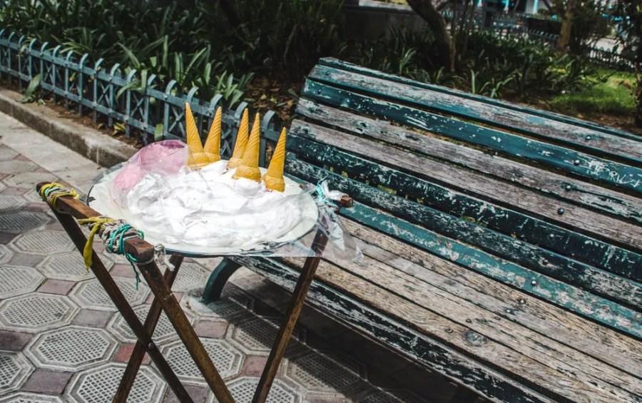 south american street food espumilla ecuador