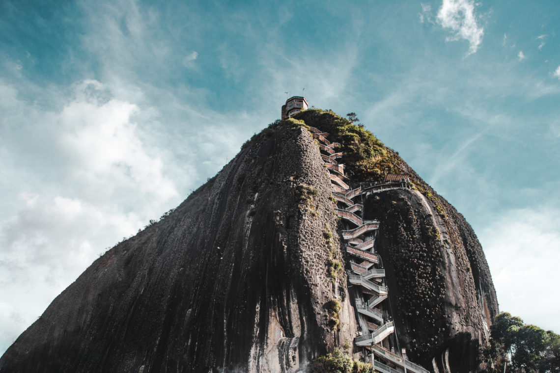 Guatape rock lake | La piedra de Guatapé | man-made lakes | Colombia travel guide by Cuppa to Copa Travels