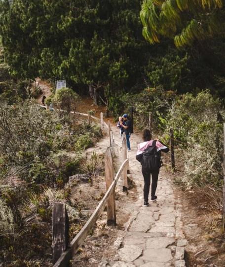 lake guatavita bogota day trip colombia tours trail