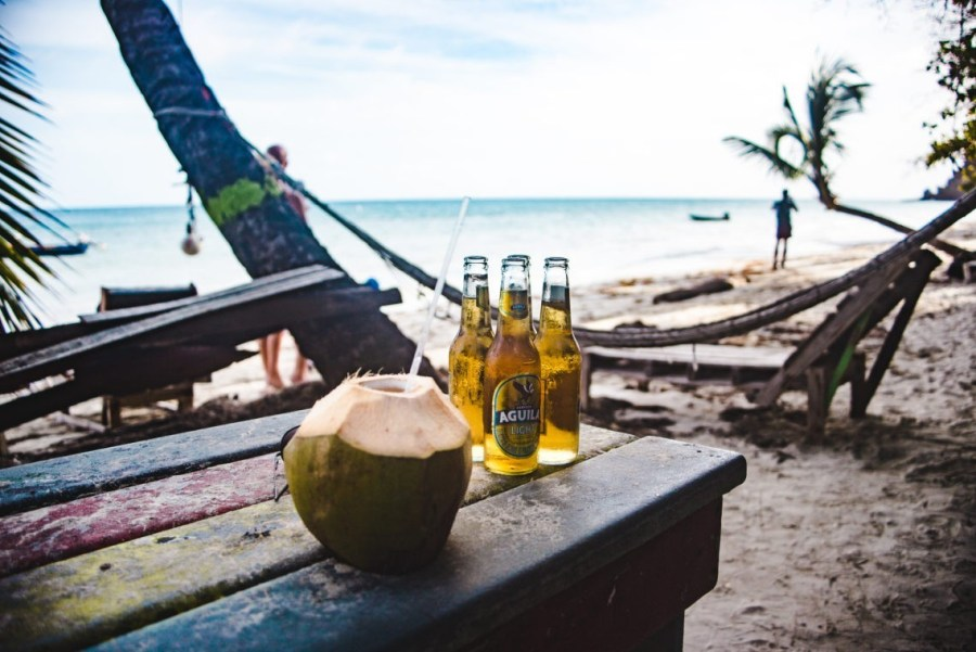 Roland's reggae bar Manzanillo Beach Isla de Providencia Colombia travel guides