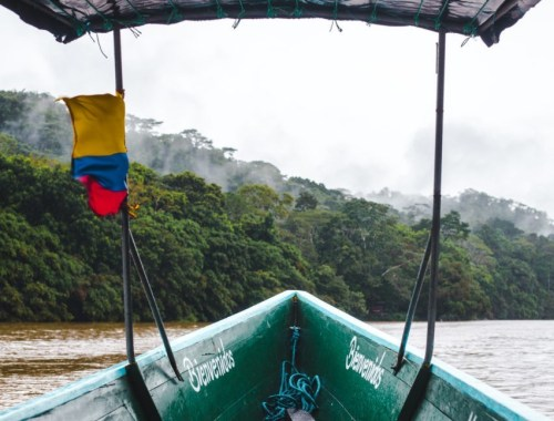 Chalupa boat tour Rio Napo Ecuador Amazon rainforest