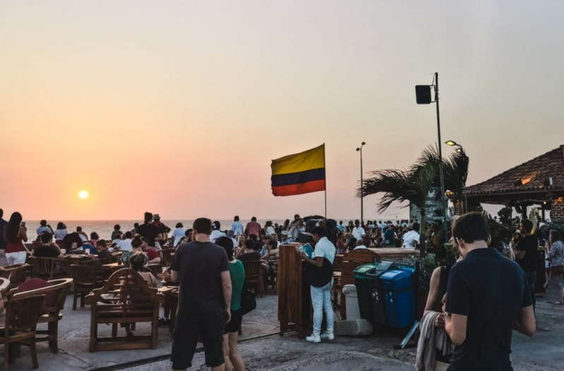 best things to do in Cartagena Colombia: watch sunset at cafe de mar