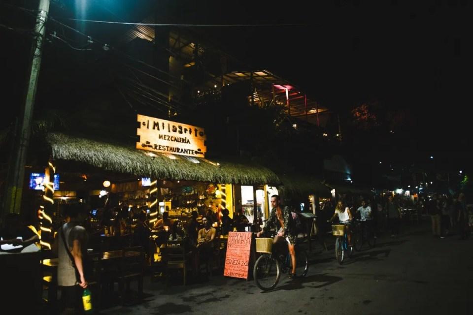 Nightlife in Tulum downtown Mexico Batey bar