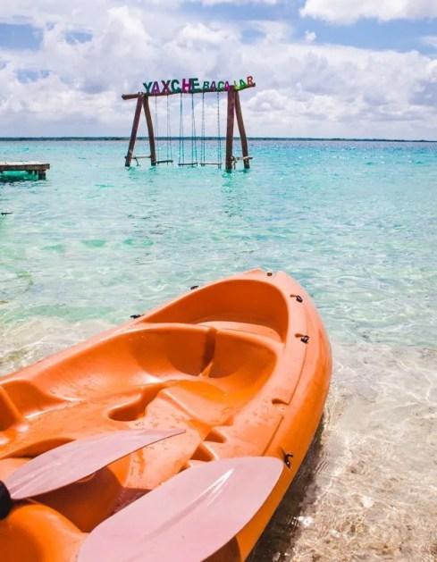 kayak things to do in Bacalar lake mexico