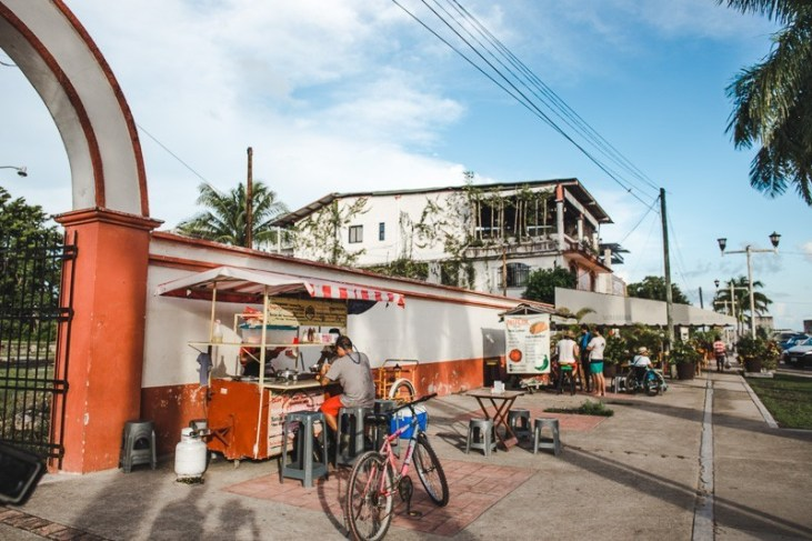 mulix taco stall where to eat in bacalar mexico