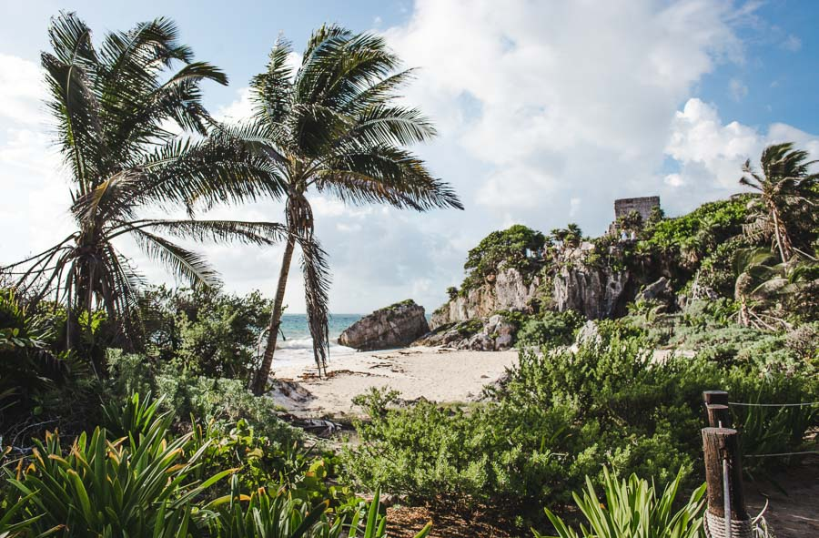 Tulum ruins: 2 week mexico itinerary: how to spend 2 weeks in Mexico Yucatan Peninsula