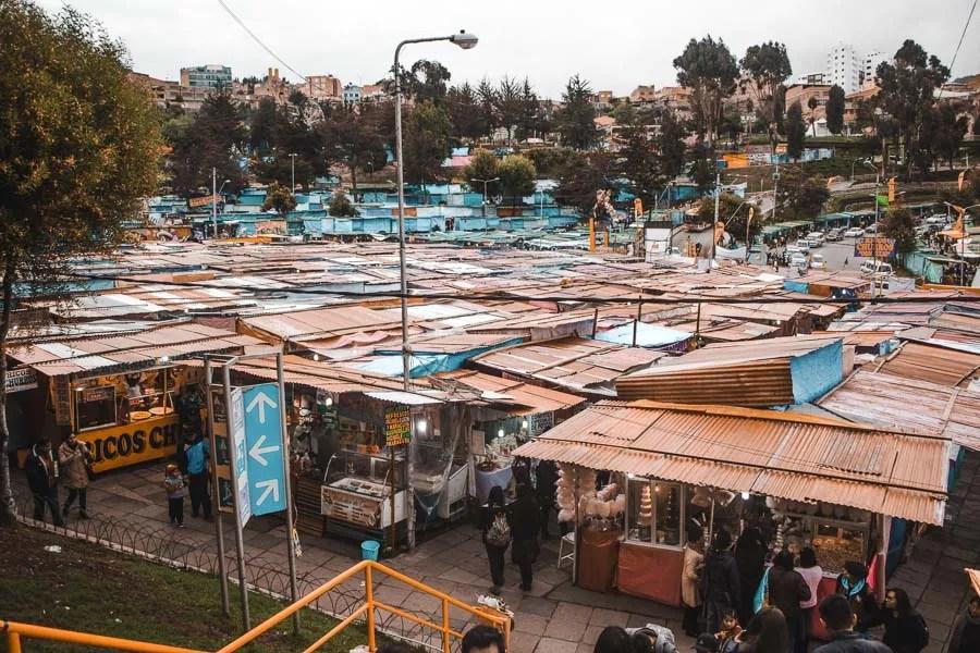 la paz markets: 2 weeks bolivia itinerary