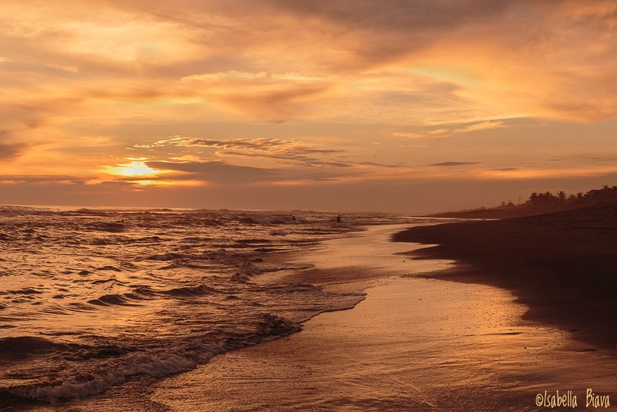 Sunset at El Paredon, Guatemala: best central american beaches