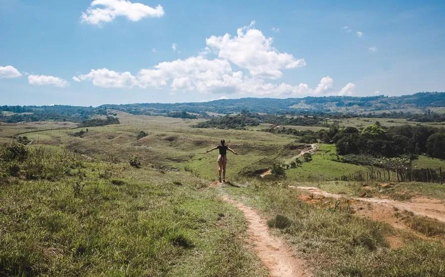 sendero las gachas guadalupe santander hiking colombia