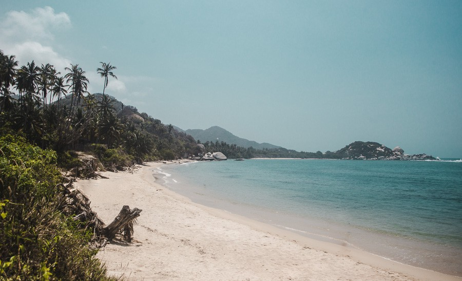 hiking colombia's most beautiful beach parque tayrona