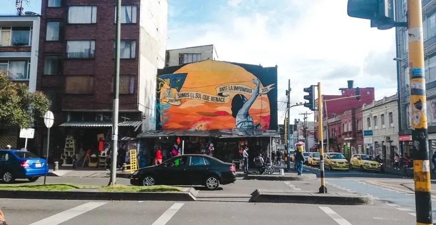 mural of las galerias, bogota colombia ATMs