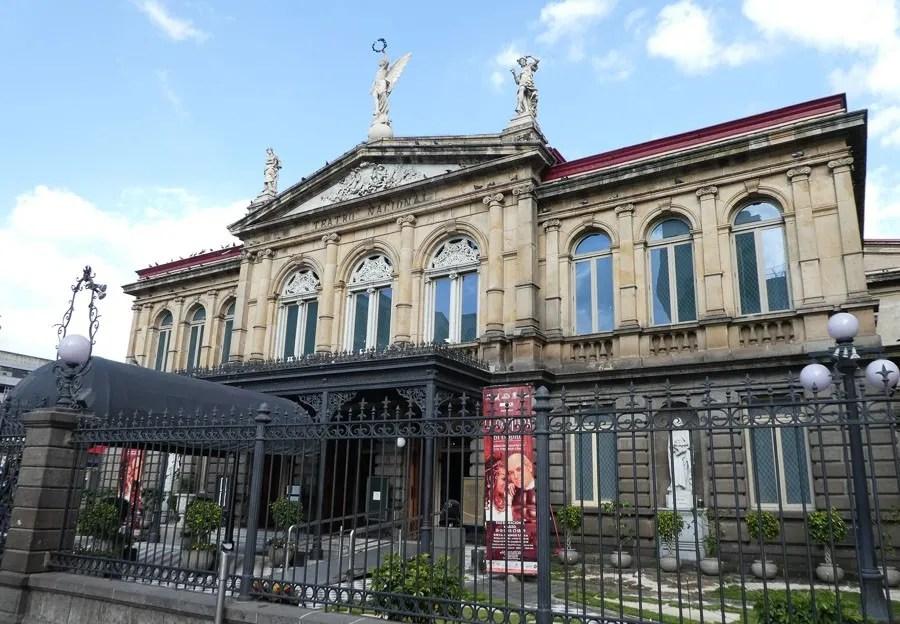 outside teatro nacional theatre san jose- famous landmarks in costa rica