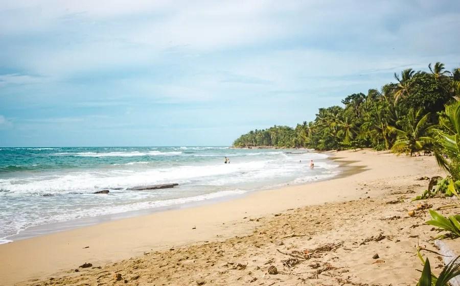beach at punta uva - famous landmarks in costa rica