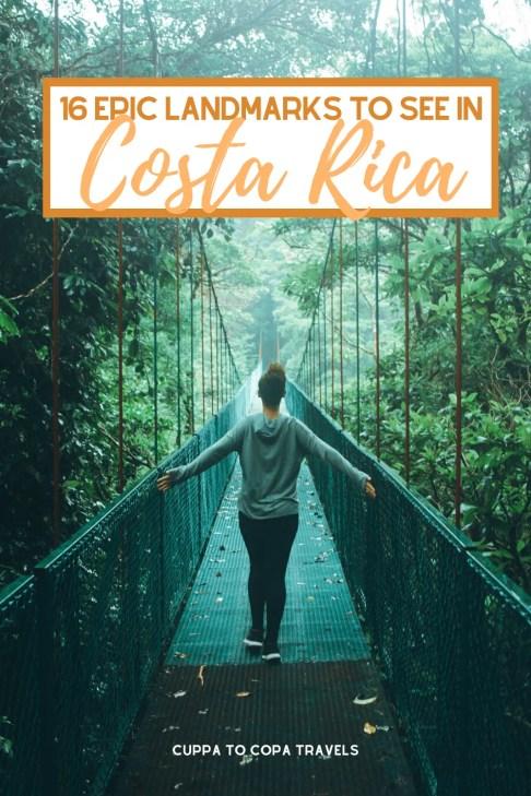 hanging bridges - famous landmarks in costa rica