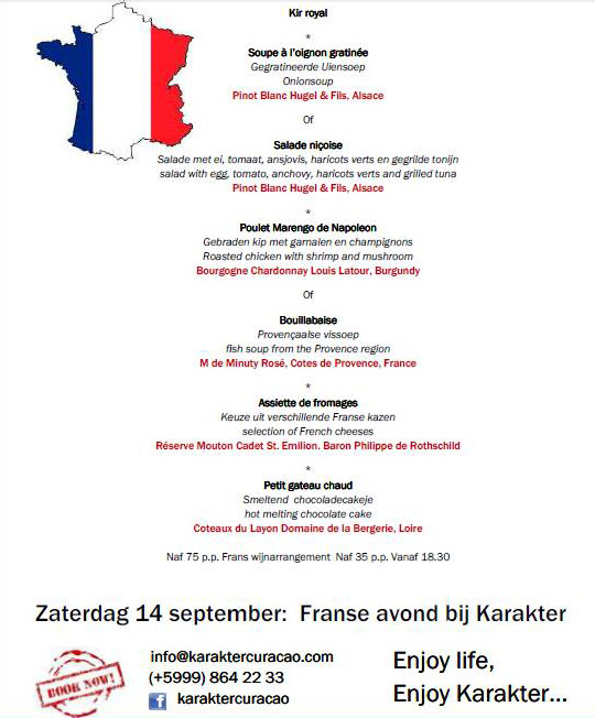 french-evening-menu
