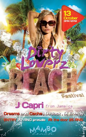 Dirty Loverz Beach Festival in Curacao
