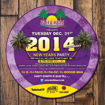 Wet & Wild NYE Party Curacao