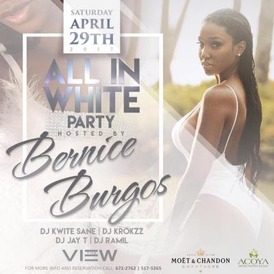 All in White Party with Bernice Burgos at The View Curacao